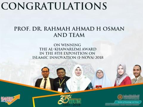 Congratulations on winning Al-khawarizmi Award
