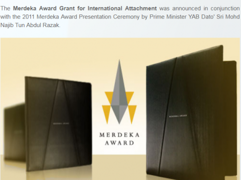 Merdeka Award Grant for International Attachment 2018