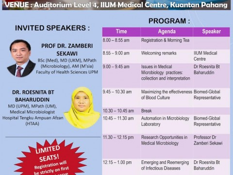 Announcement on Invitation To Annual Seminar In Pathology 2018 : Medical Microbiology Updates