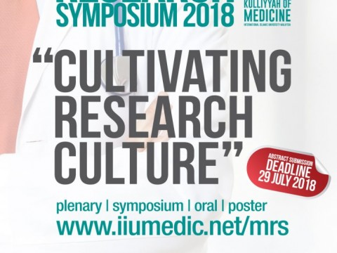INVITATION TO PARTICIPATE IN THE MEDICAL RESEARCH SYMPOSIUM (MRS) 2018