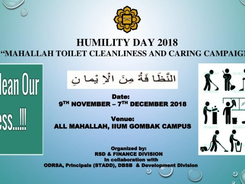 """""""Humility Day 2018 – Mahallah Toilet Cleanliness and Caring Campaign"""""""