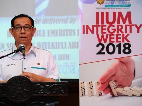 Rector's speech during the closing of IIUM Integrity Week 2018