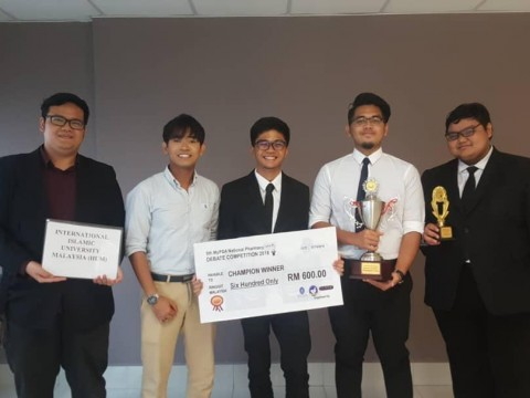 IIUM Pharmacy Debate Team Won 1st Place in 5th MyPSA  National Pharmacy Debate Competition (NPDC) 2018