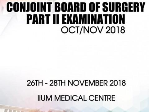 Conjoint Board of Surgery Part II Examination Oct/Nov 2018