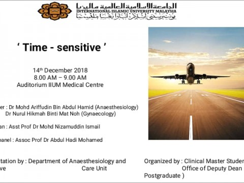 "KOM CPC - Anaesthesiology - ""Time-sensitive"""