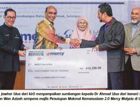 Media Prima-NSTP sumbang RM412,350 tabung Rohingya