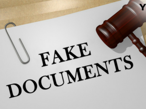 Fake documents grounds for dismissal