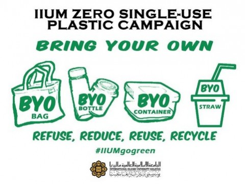 The 4Rs' introduced in IIUM Zero Single-Use Plastic Campaign