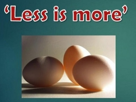 """Less is More"" - KOM CPC BY DEPT OF O & G"