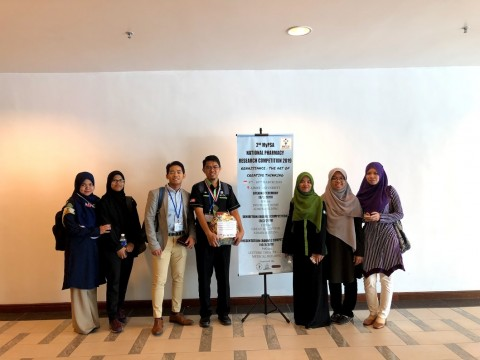 IIUM Pharmacy Student Won 2nd Place in 2nd MyPSA National Pharmacy Research Competition (NPRC) 2019