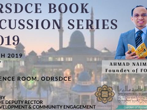INVITATION TO ATTEND ODRSDCE BOOK DISCUSSION SERIES 2/2019 - COGNITIVE SURPLUS (CREATIVITY AND GENEROSITY IN A CONNECTED AGE) BY BR. AHMAD NAIM JAAFAR, FOUNDER OF FORESIGHT