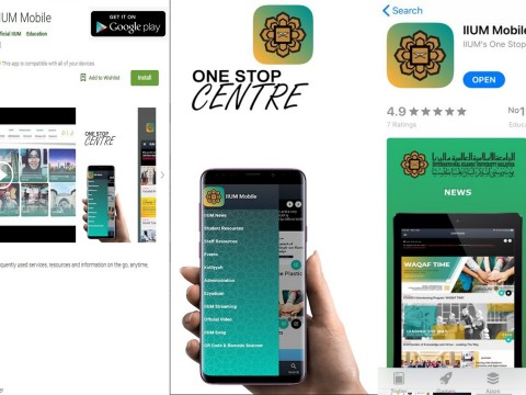 Staying connected through IIUM mobile app