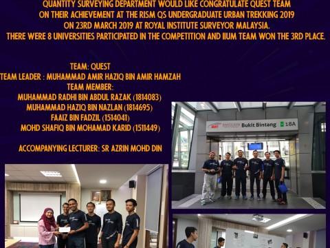 Congratulations to Team QUEST!