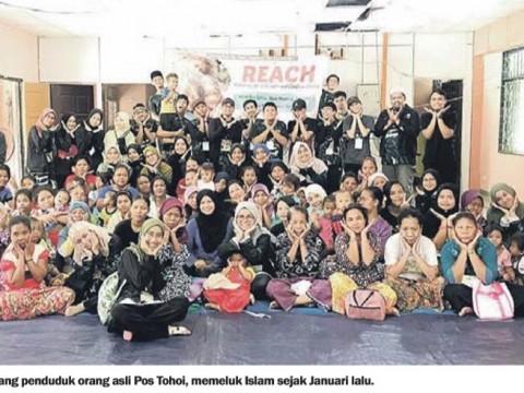 17 orang asli peluk Islam