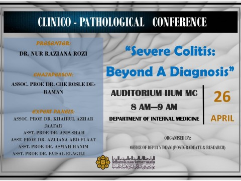 """Severe Colitis: Beyond A Diagnosis"" - KOM CPC by Dept. of Internal Medicine - 26 April 2019"