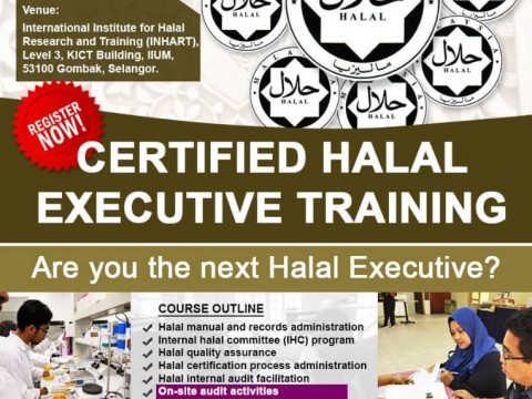 CERTIFIED HALAL EXECUTIVE TRAINING : NOW OPEN!