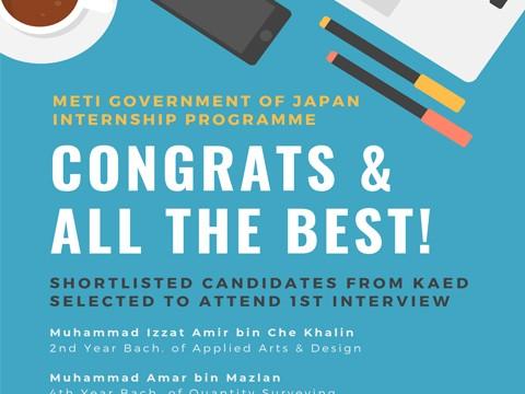 METI GOVERNMENT OF JAPAN INTERNSHIP PROGRAMME