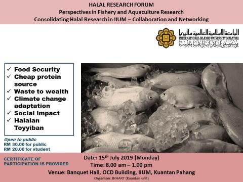 HALAL RESEARCH FORUM
