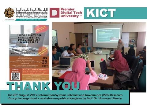 Information System Publication Workshop