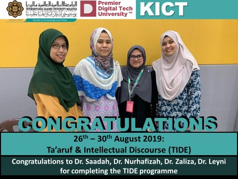 Congratulations on Completing TIDE Programme