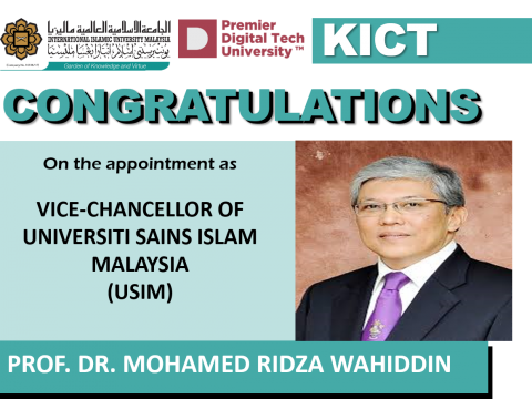 Congratulation Prof Ridza as USIM Vice Chancellor