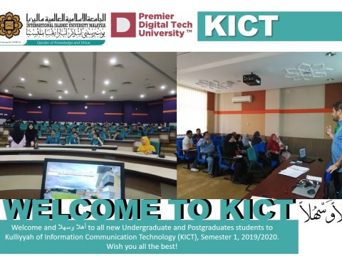 Welcome to all new Undergraduate & Postgraduate Students to KICT
