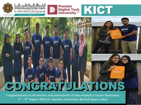 Congratulations to all winners and participants of Data Analytics Cluster Bootcamp.