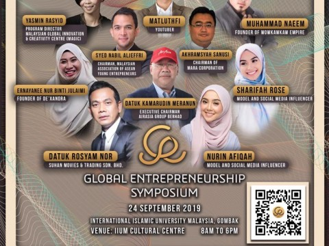 INVITATION TO PARTICIPATE IN GLOBAL ENTREPRENEURSHIP SYMPOSIUM 2019