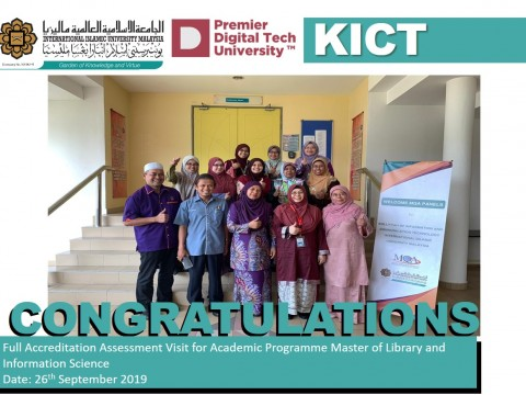 Full Accreditation Assessment Visit for Academic Programme Master of Library and Information Science
