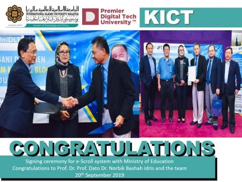 Congratulations Prof. Dato Dr. Norbik Bashah Idris and the team