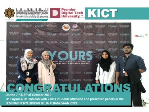 Congratulations to Dr. Hayani, Dr. Zahidah & 2 KICT Students.