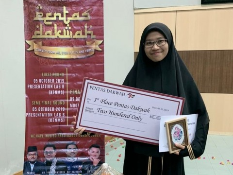 Female finalist wins Pentas Dakwah 4.0