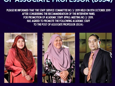CONGRATULATIONS ON THE PROMOTION TO THE POST OF ASSOCIATE PROFESSOR