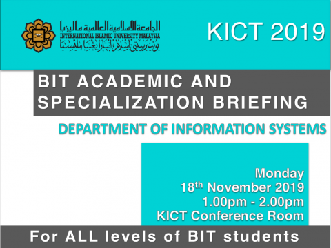 BIT Academic And Specialization Briefing