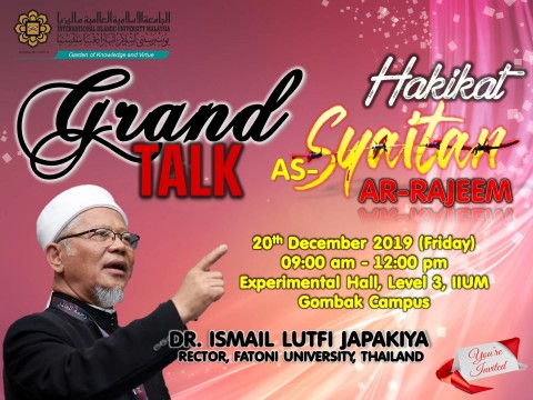 "GRAND TALK ON ""HAKIKAT AS-SYAITAN AR-RAJEEM"""