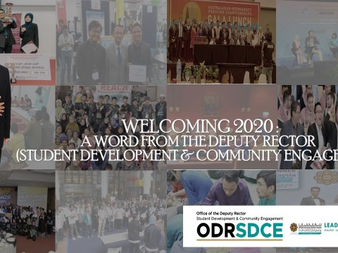 WELCOMING 2020 : A WORD FROM THE DEPUTY RECTOR (STUDENT DEVELOPMENT AND COMMUNITY ENGAGEMENT)