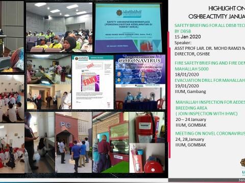 OSHBE Activity January 2020