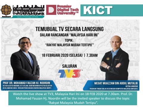 """""""Rakyat Mudah Tertipu"""" – TV3 Live Show MHI 18 FEB 2020"""