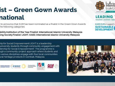 Finalist - Green Gown Awards International