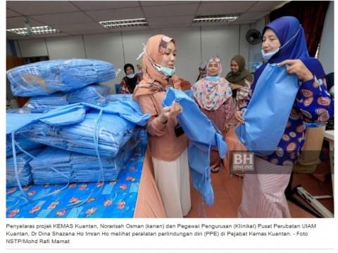 KEMAS Pahang hasilkan 16,967 PPE