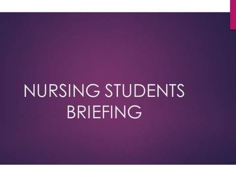 Notice on Briefing and Interview Session from Kulliyyah of Nursing Students for Semester 3, 2019/2020