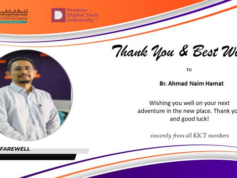 Thank You Br. Ahmad Naim Hamat