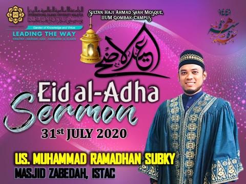 ʿĪD AL-ADḤĀ 1441H/2020 CONGREGATIONAL PRAYER