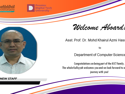 Welcome Dr. Khairul Azmi Hassan to KICT