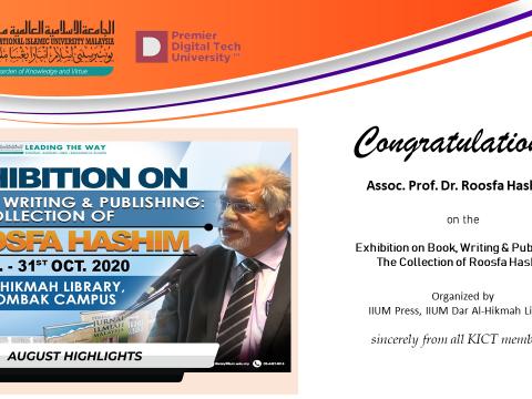 Congratulations Assoc. Prof. Dr. Roosfa Hashim