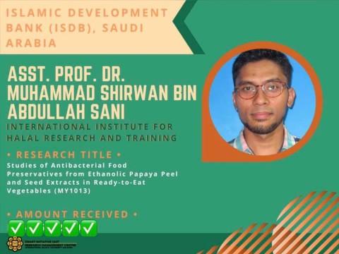 Congratulations to Asst. Prof Dr Shirwan Sani!