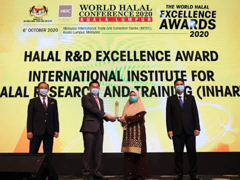 INHART receives Halal R&D Excellence Award 2020