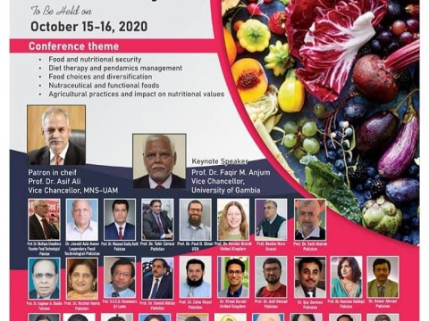 """International Conference on """"Plant Based Food; Potential for Food Security and Pandemic Management"""""""