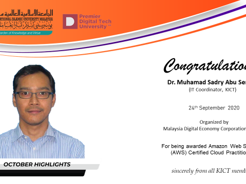 Congratulations  to Dr, Muhamad Sadry Abu Seman