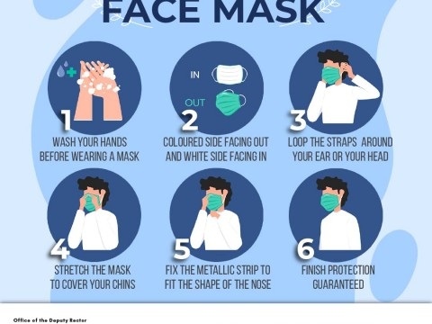 TIPS 4 - PROPER STEPS TO PUT ON FACE MASK